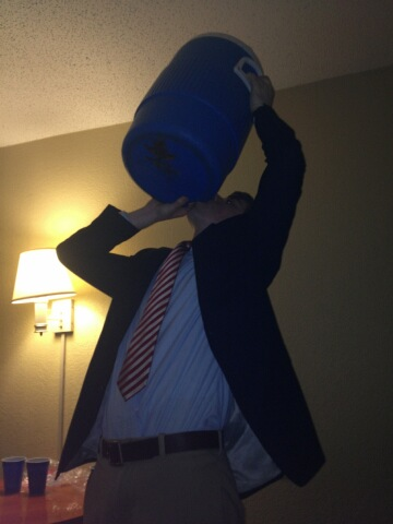 Making sure the pledges don't get any. TFM.