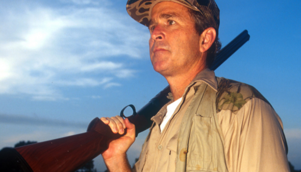 Dubya working on his dove count. TFM.