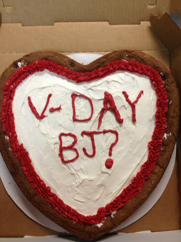 Subtle hints on Valentine's Day. TFM.