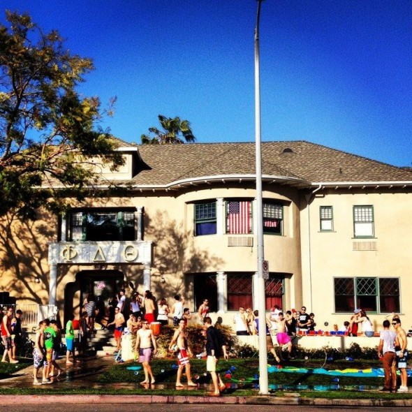 Studying for midterms at Phi Delt. TFM.