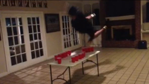Doing the dunk. TFM.