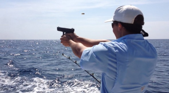 Shooting while fishing. TFM.