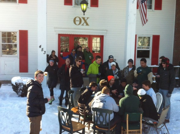12 inches of snow calls for a day drink on the lawn. TFM.