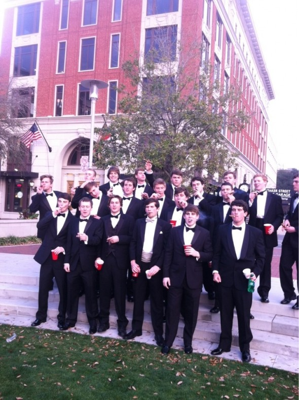 The pledge class taking over Savannah during formal. TFM.