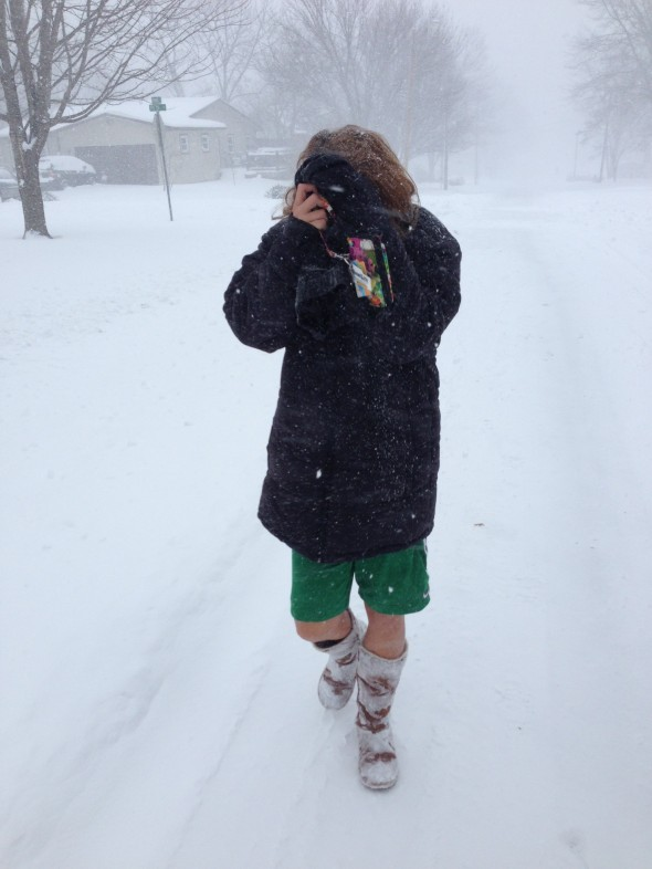 The blizzard walk of shame. TFM.