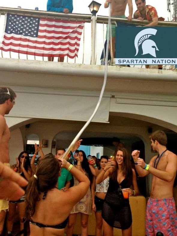 Beer bong? How about tequila bong? MSU in PV. TFM.