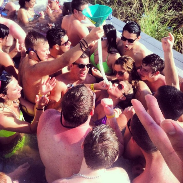 Beer bongs and hot tubs. TFM.