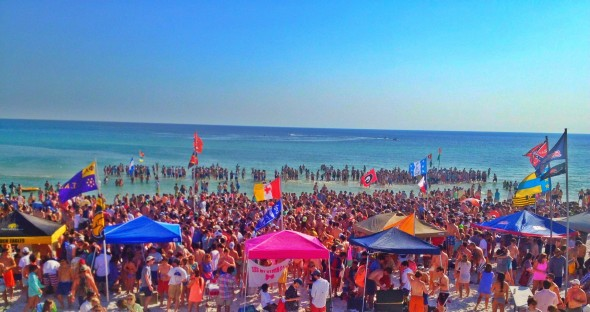 Greeks claiming the entire beach. TFM.