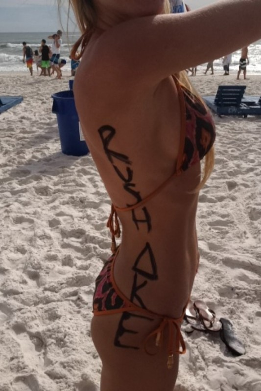 Repping on the beach. TFM.