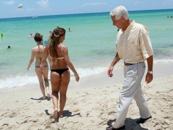 Never too old to enjoy the scenery. TFM.