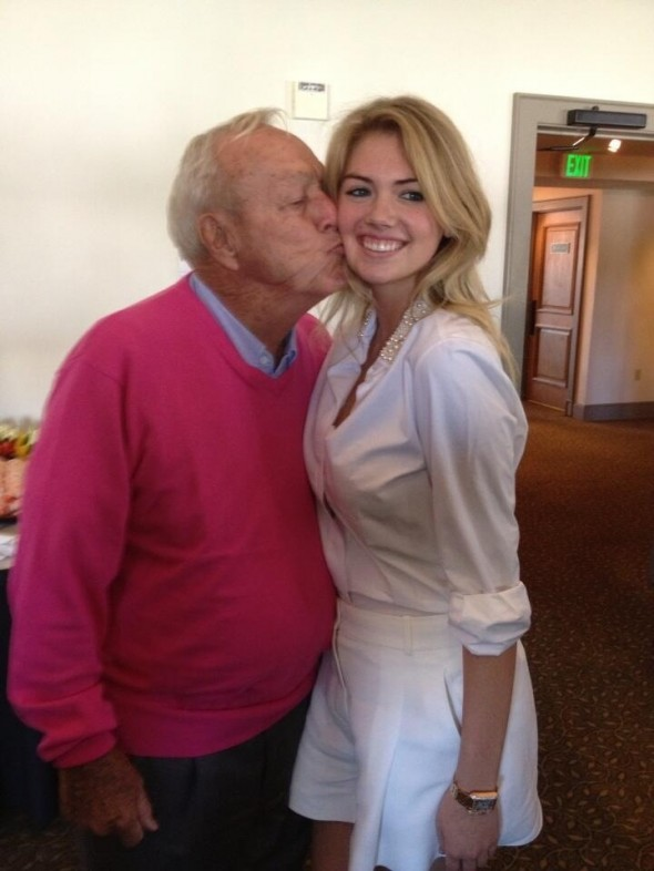 Arnold Palmer with Kate Upton. TFM.