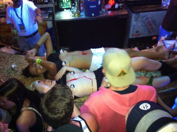 Body shots at Changos in Rocky Point, Mexico. TFM.