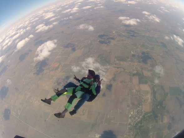 Skydiving in boat shoes. TFM.