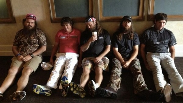 "Bubba Watson ""Dufnering"" with Jason and Duck Dynasty. TFM."