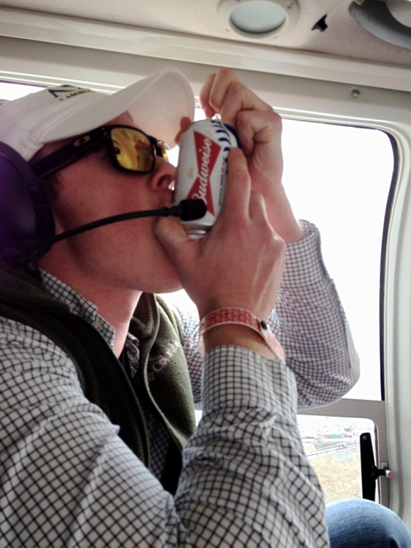 Helicopter shotgun. TFM.
