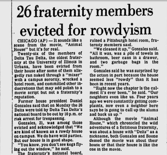 Rowdyism. TFM.