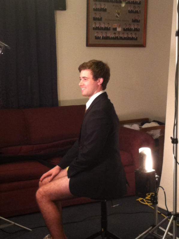 Not wearing pants to your composite picture. TFM.