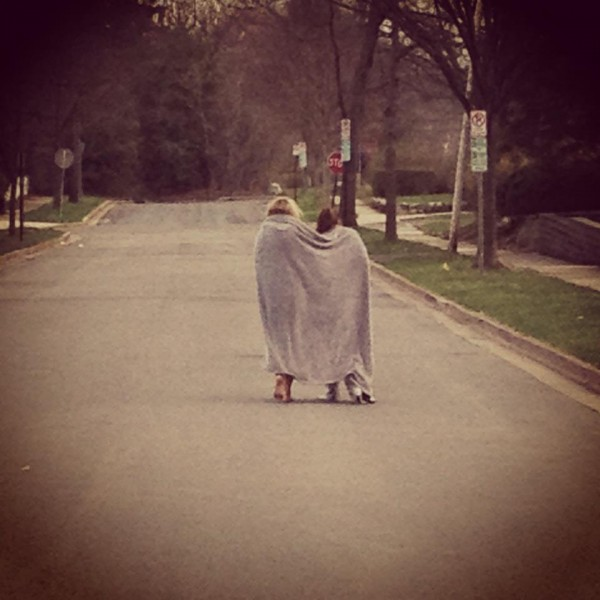 Nothing like an early morning stroll with your best friend...minus absolutely everything you had the night before. TFM.