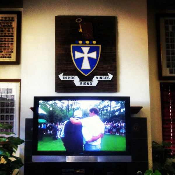 Nothing better than a Sigma Chi taking the Masters. TFM.