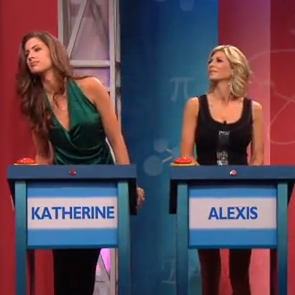 Katherine Webb Competes In Jay Leno's Trivia Game