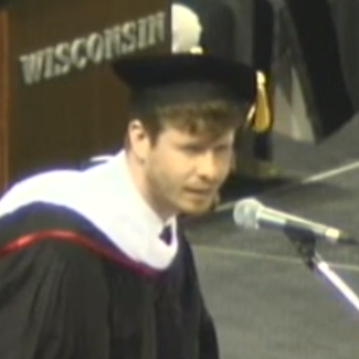 Anders Holmvik From 'Workaholics' Gives Wisconsin Commencement Speech