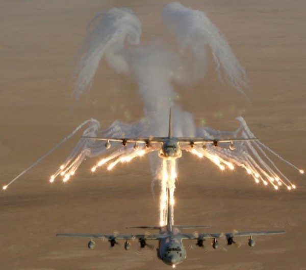 Bald eagle from the smoke of an AC-130. TFM.