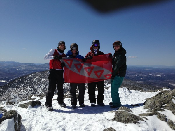 TKE on the peak of Jay in VT. TFM.