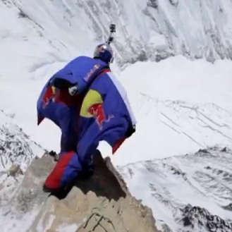 Daredevil Base Jumping Off Mount Everest