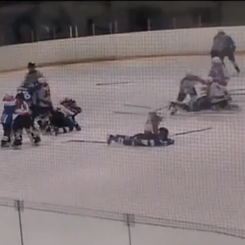 Russian Youth Hockey Fight Turns Into All Out Brawl