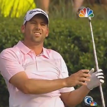 Sergio Garcia Knocks Three Balls Into The Water, Blows Players Championship