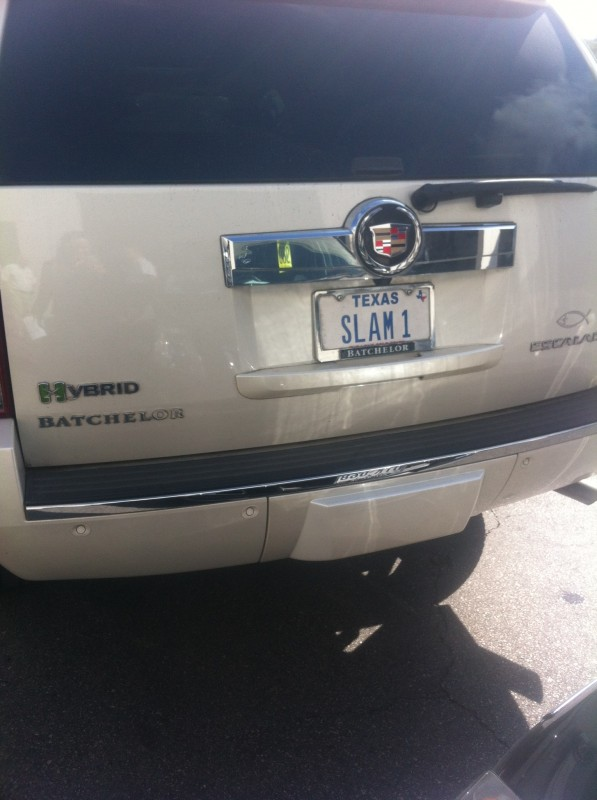 Having personalized transportation for your slam. TFM.