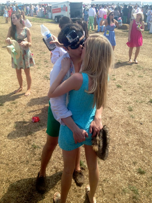 Ass grab with a GoPro attached to your head at the Carolina Cup. TFM.