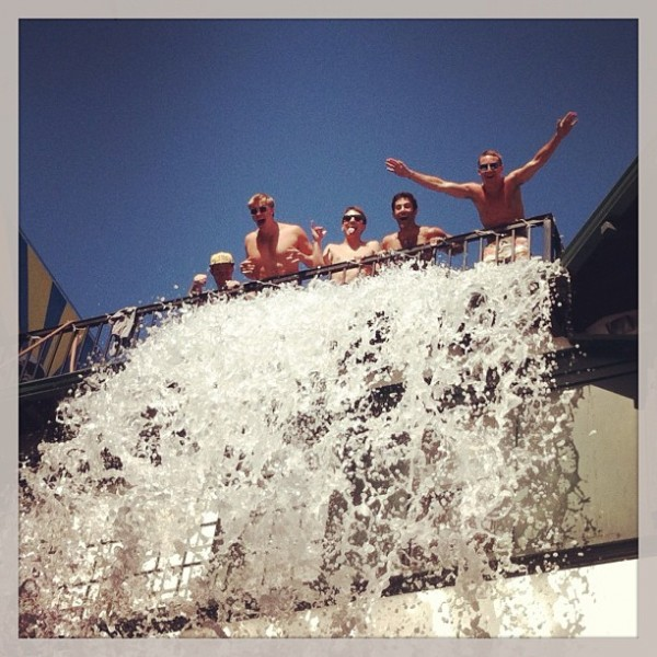 Waterfall off the roof. TFM.