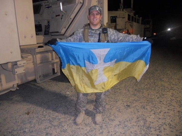 My brother, as well as fraternity brother, leading his platoon while deployed to Iraq. TFM.