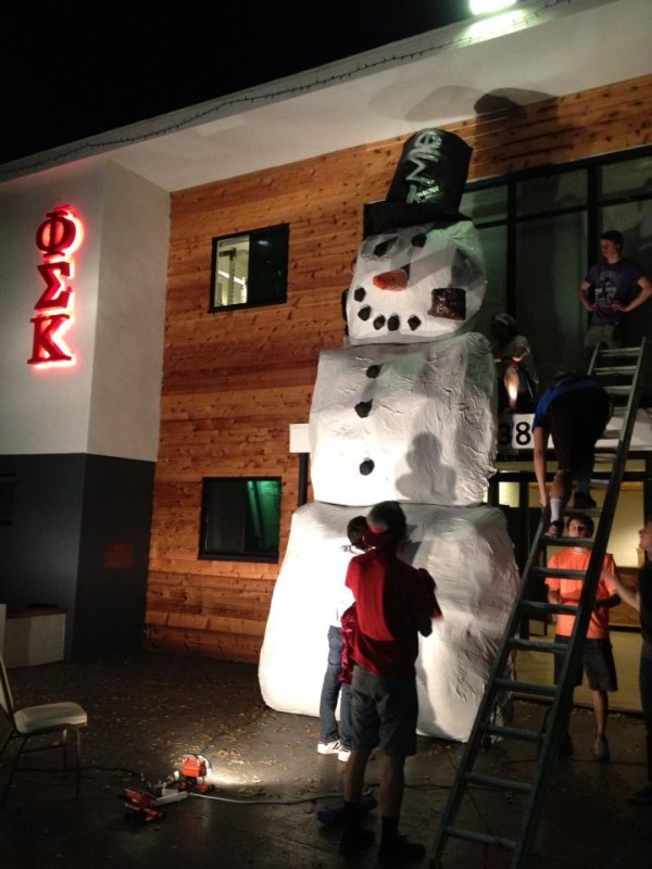 Pledges building me a snowman. TFM.