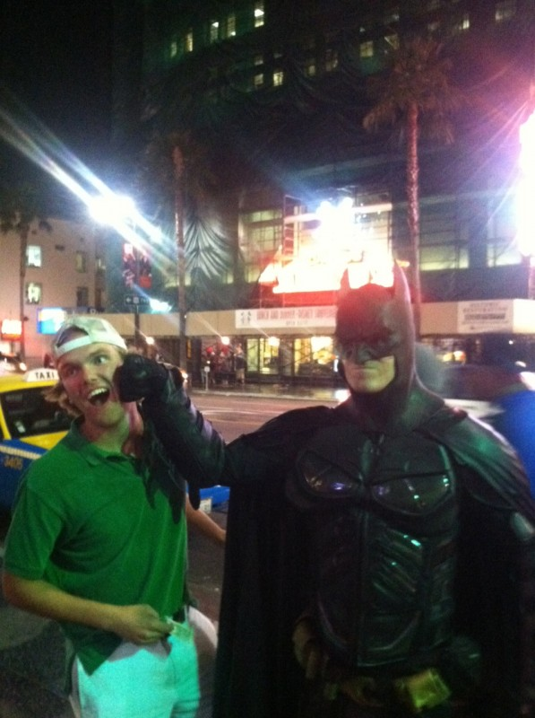 Blacked out by shots, knocked out by The Dark Knight. TFM.
