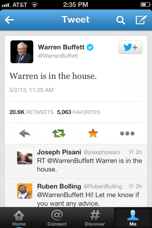 Warren Buffett. TFM.