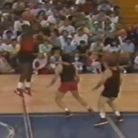 Michael Jordan Playing Basketball Against Martin And Charlie Sheen
