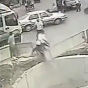 Man Crashes Scooter 5 Times In 1 Minute