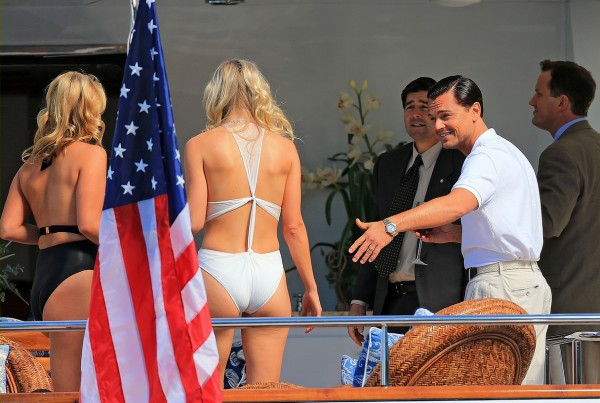 The Wolf of Wall Street showing off his women to the FBI. TFM.