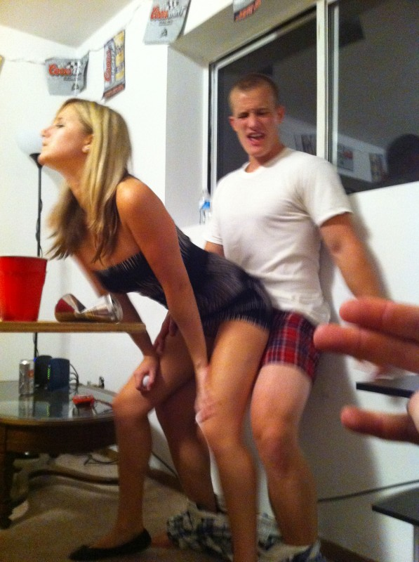 Taking the beer pong shot distraction too far. TFM.