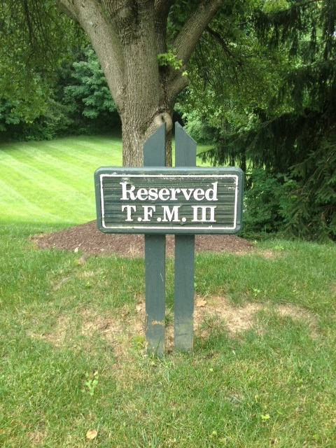 "Reserved for ""T.F.M. III."" TFM."