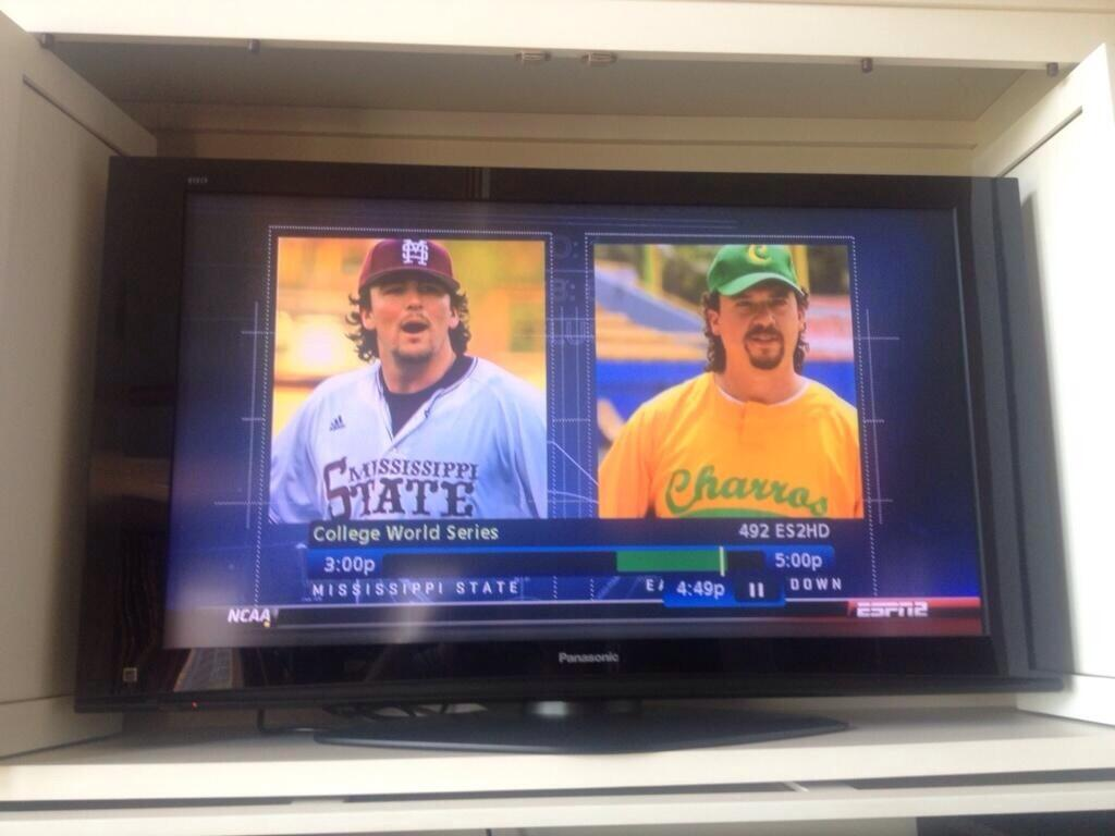 Mississippi State's Jonathon Holder being compared to Kenny Powers. TFM.