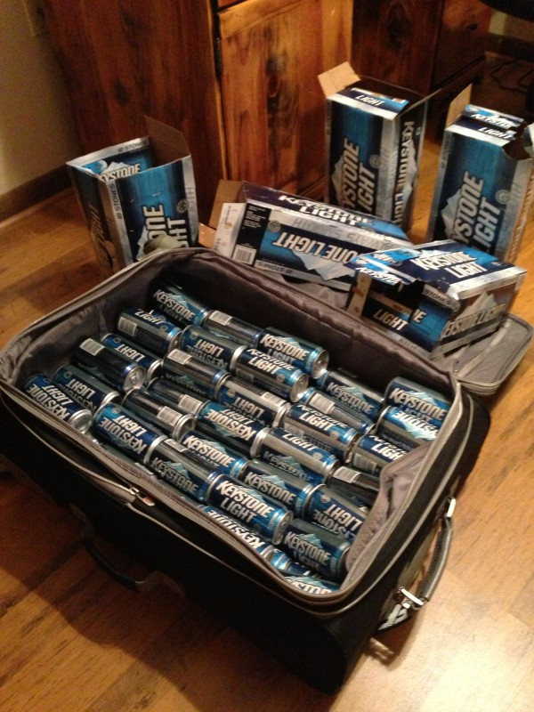 Packing light. TFM.