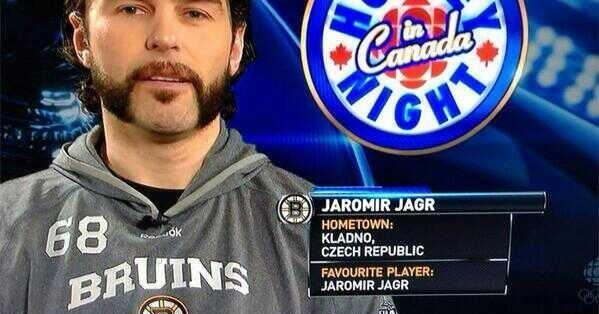Jaromir Jagr's favorite player being himself. TFM.