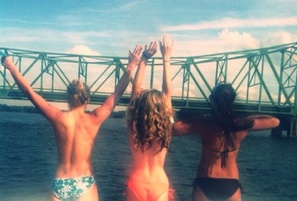 The bridge gives a great view of the lake. TFM.