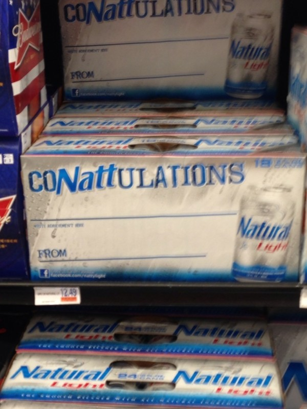 Natty Light promoting graduation. TFM.