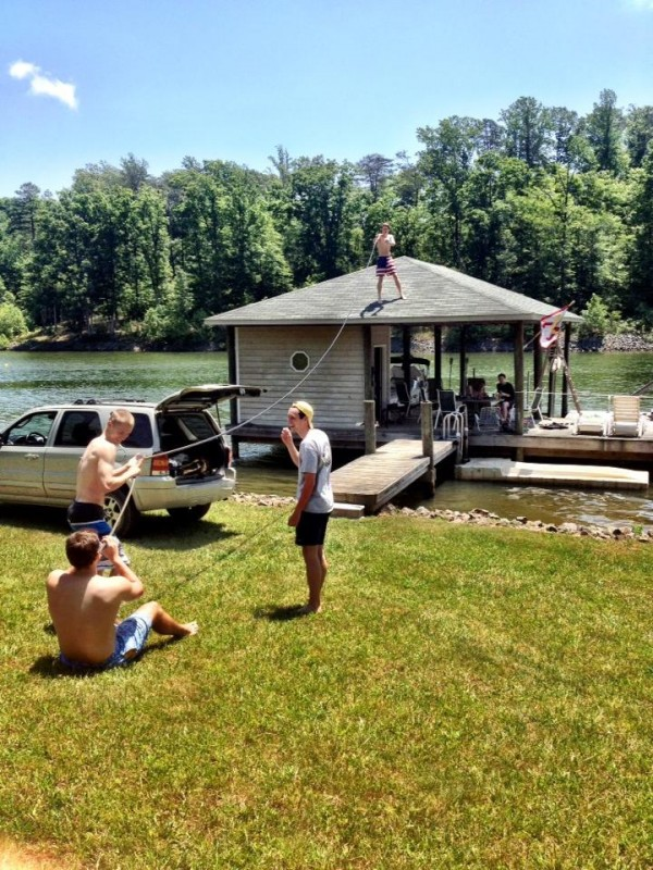 Getting rowdy at the lake. TFM.