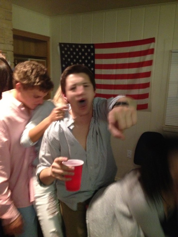 When your face can't keep up with your partying. TFM.