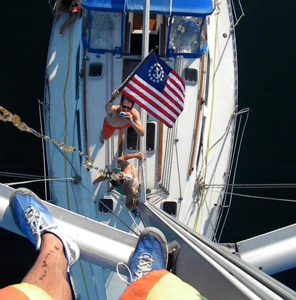 Pre yacht race ritual. TFM.